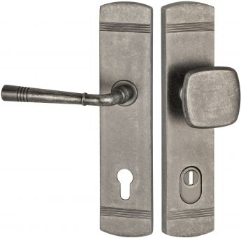 Schutzbeschläge Schutzgarnitur 1174.F ES1 (EN2) Eisenfarben Antik schwarz