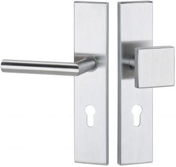Haustürbeschläge kantig Schutz - Wechselgarnitur Basic 02 92 mm