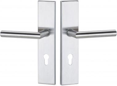 Haustürbeschläge Schutz - Drückergarnitur kantig Basic 02