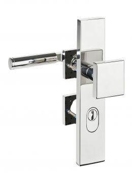 Haustürbeschläge Schutz - Wechselgarnitur kantig mit ZA 1831 92 mm / rechts