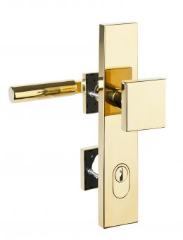 Haustürbeschläge Schutz - Wechselgarnitur kantig mit ZA 1832