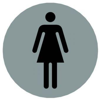 Hinweiszeichen Edelstahl rund Symbol: Frauen