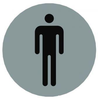 Hinweiszeichen Edelstahl rund Symbol: Männer