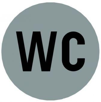 Hinweiszeichen Edelstahl rund Symbol: WC