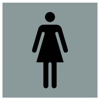 Hinweiszeichen Edelstahl eckig Symbol: Frauen
