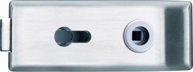 Glastürschloß Siena (PZ) Edelstahl matt