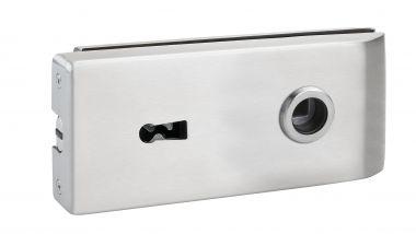 Magnet Glastürschloß Bari (BB) Edelstahl matt