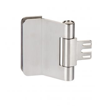 Glastürband 6351 Stahl links