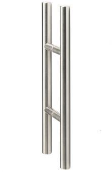 Glastür-Stoßgriffpaar 8000 V2A Ø 20 mm