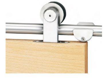 Schiebetürbeschlag Torbole Holz 2 für 1 flg. Holztür