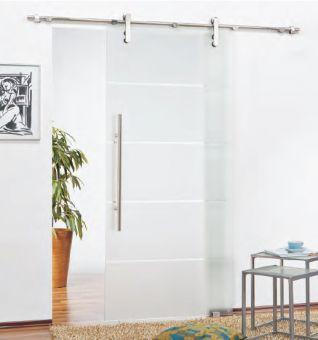 Schiebetürbeschlag Torbole für Glastüren ohne Zarge Safe Close