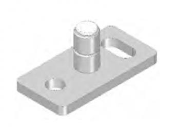 Bodenführung für Holztüren für 8 mm Nut