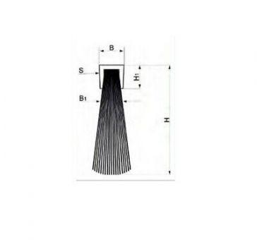 Ellen Elton IBS 50/70 Türbodendichtung ohne Halteprofil zum Einnuten 100 cm