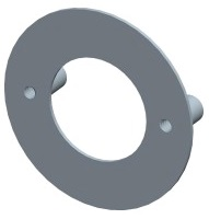 Montageplatte für Haustür-Halbgarnituren