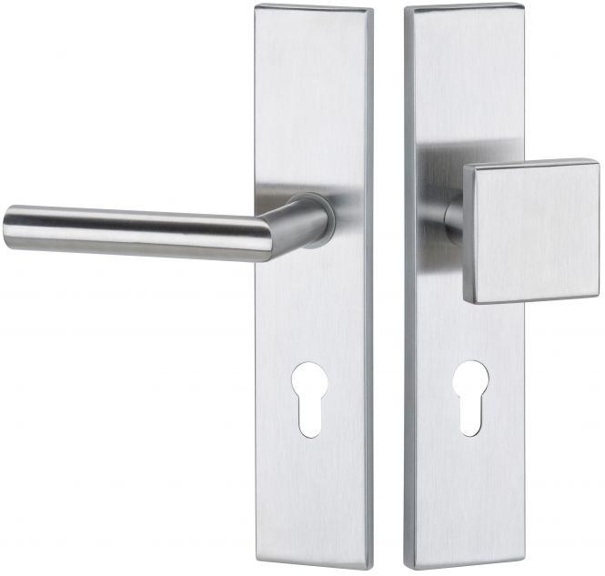 Haustürbeschläge Schutz - Wechselgarnitur kantig Basic 02