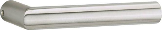 Glastür-Drückerpaar Basic 02 Aluminium