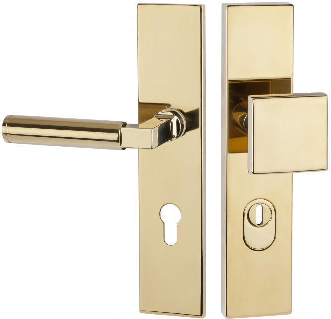 Haustürbeschläge Schutz - Wechselgarnitur kantig mit ZA 1831 72 mm