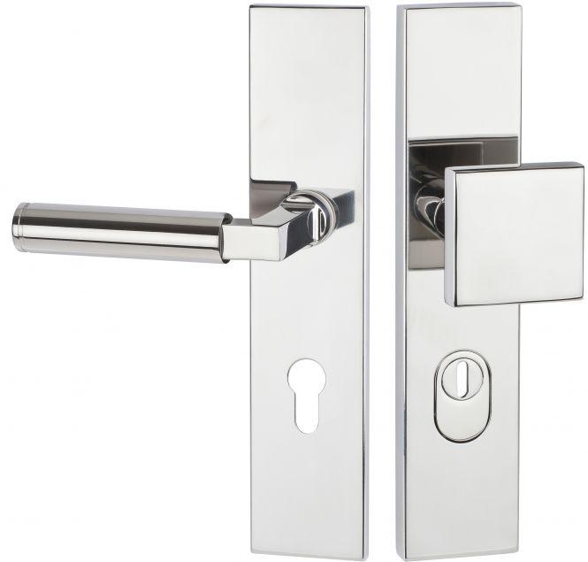Haustürbeschläge Schutz - Wechselgarnitur kantig mit ZA 1831 92 mm
