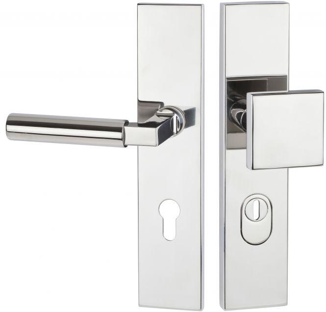 Haustürbeschläge Schutz - Wechselgarnitur kantig mit ZA 1832 92 mm