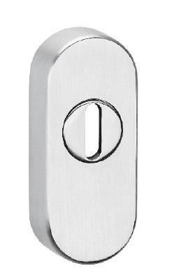 Schieberosette 2076 KS oval Edelstahl