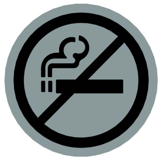 Hinweiszeichen Edelstahl rund Symbol: Nicht Rauchen