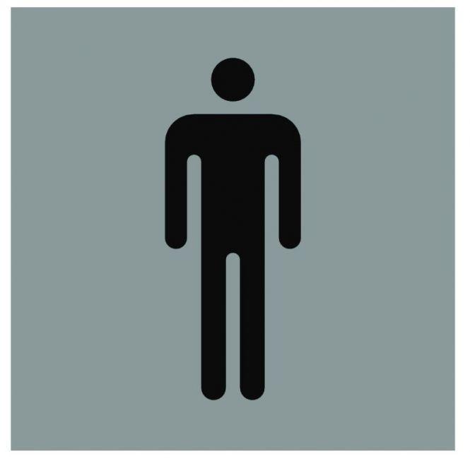 Hinweiszeichen Edelstahl eckig Symbol: Männer