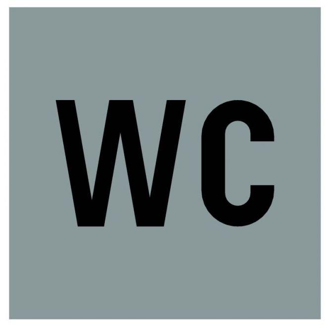 Hinweiszeichen Edelstahl eckig Symbol: WC