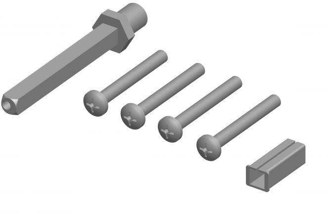 Montageset für abweichende Türstärken zu Beschlag 2089 ES1 (EN2) TS 74-83 mm