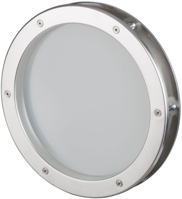Aluminium Bullauge 5035 AL Ø25/Satiniertes Glas