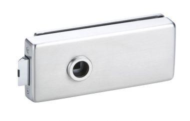 Glastürschloss Genova Serie 6080 (OL) Edelstahl poliert