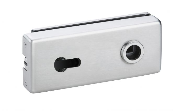 Magnet Glastürschloß Genova (PZ) Edelstahl matt
