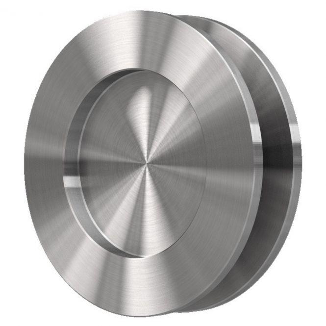 Schiebetürmuschel 6417 12 mm, Edelstahl poliert