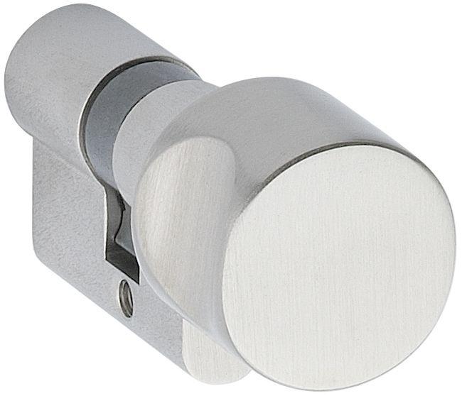 Glastür WC-Knaufzylinder Mattnickel (edelstahlfarben)