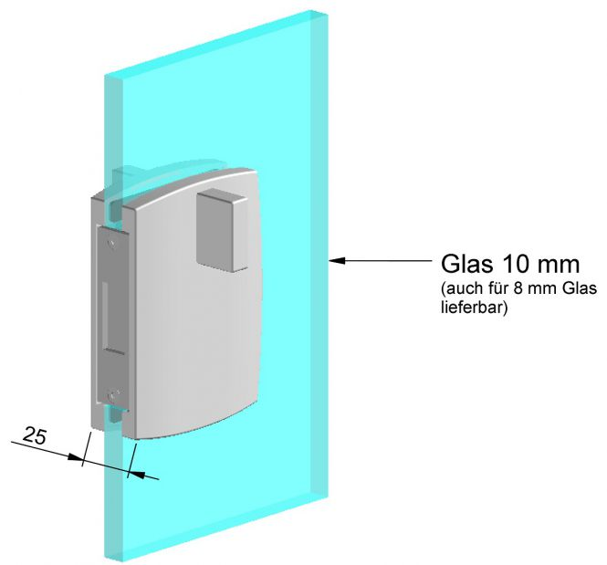 Glas-Gegenkasten 6903 Gegenkasten mit Griff