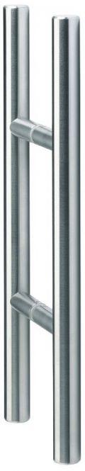Glastür-Stoßgriffpaar Serie 8000 V2A 500/300 mm