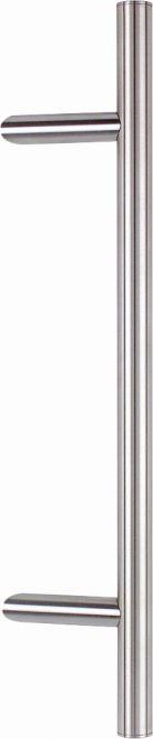Stoßgriff Serie 8010 mit schrägen Stützen V2A 1400/1200 mm