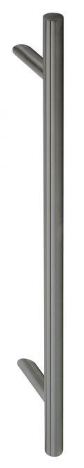 Stoßgriff Serie 8010 mit schrägen Stützen smoke black 600/400 mm